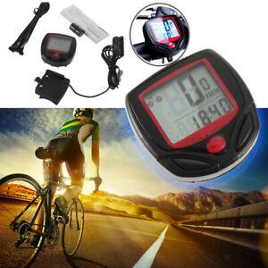 Wireless Bicycle Speedometer Cycle Bike Computer Odometer Meter Waterproof LCD A