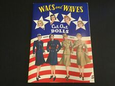 Wacs and Waves Cut Out Paper Dolls Booklet 2001 B. Shackman Co.