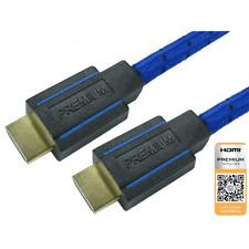 3m Premium Certified HS/E V2.0b Braided HDMI Cable 4K x 2K BT.2020 SKY Q Blue