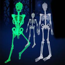 Scary DIY Luminous Human Skeleton Hanging Decor Halloween Party Skull Decoration
