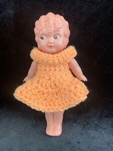 "Vintage 7"" CELLULOID KEWPIE FLAPPER Doll Girl Japan 1920s-"