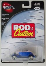 HOT WHEELS ROD & CUSTOM '34 FORD ROADSTER REAL RIDER RUBBER TYRES