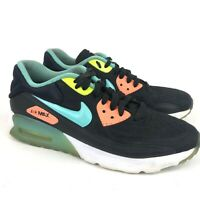 Nike Air Max 90 Ultra SE Junior Youth Trainers Shoes Black/Turquoise Size 6Y