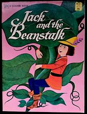 JACK & THE BEANSTALK ~ Little Golden Book Large HTF Softcover Edition ~ NICE!
