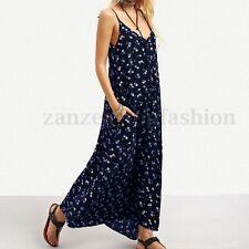 ZANZEA Women Strappy Floral Print Sundress Cocktail Evening Party Maxi Dress