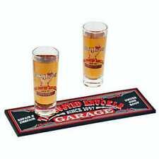 The Busted Knuckle Garage Shot Glass & Mini Beverage Mat Gift Set Bkg-78703