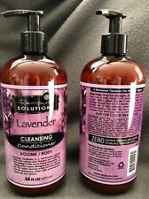 2 RENPURE Cleansing Conditioner With Pump, Lavender 16 Oz. Each Volume/Body New