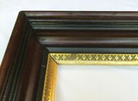"Antique Fits 14"" x 17"" 19c Eastlake Deep Cove Shadow Box Gold Gilt Picture Frame"