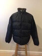LL Bean Black Green Reversible 2-in-1 Goose Down Jacket Coat Mens Medium