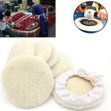 6/12Pcs 7inch Auto Car Wool Bonnet Buffing Wheel Pad Buffer Polishing Polisher