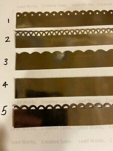 """Lead flashing for dolls houses 1"""" x 12"""" self adhesive, choose from 5 designs"""