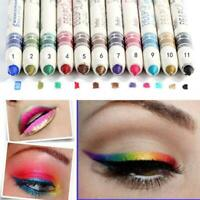 12 Pcs Professional Cosmetic Makeup Eyeliner Eye / Lip Pencil Liner Glitter B2T2