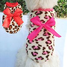 eg _ Mascota Perro Gato bowknot ropa CORAL Forro Polar Cachorro Disfraz