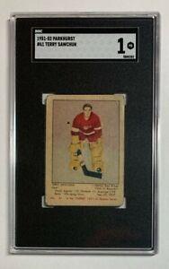 1951 - 52 Parkhurst #61 Terry Sawchuk Rookie Card SGC 1