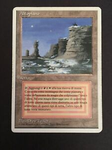 Italian Plateau White Border | Moderate Play MP | Dual Land Revised MTG Magic