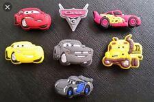 7 Disney Cars Shoe Charms PVC Rubber Holey Clogs shoes charm Lightening McQueen