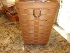 LONGABERGER STORAGE SORT N STORE SMALL WASTE BASKET WITH PROTECTOR