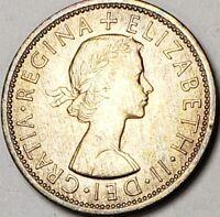 1967 GREAT BRITAIN 2 SHILLING/FLORIN BU UNC ELIZABETH II LIGHTLY TONED GEM