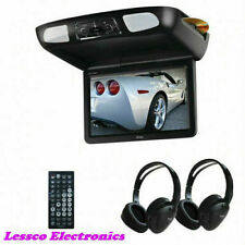 "BOSS 12.1"" Widescreen FlipDown TFT Monitor, DVD, HDMI Input/Remote/(2)Headphones"