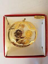 Prairie Rose Carousel Wahpeton N.D. 24K Genuine Gold Flashed Brass Ornament
