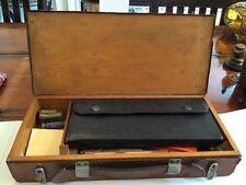Vintage Wooden & Leather Box  Keuffel & Esser German K&E Mars Lead Draftsman