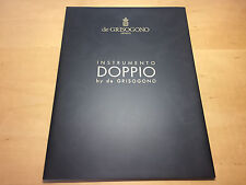 Brochure Catalogue DE GRISOGONO Catálogo - Instrumento Doppio - Watches Relojes