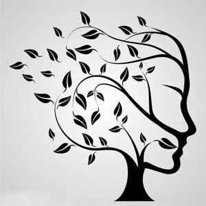 Tree of Life Reusable Stencil A3 A4 A5 Human Head Face Modern Art / TOL6