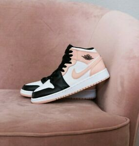 🔥 Air Jordan 1 Mid GS | Crimson Tint | UK 4 4.5 5 5.5 6 7Y | Arctic Orange Pink