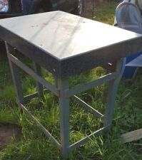 Granite table with heavy duty metal frame