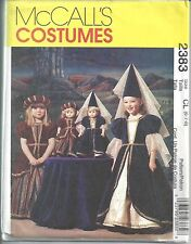 McCalls Sewing Pattern # 2383 Girls Medieval Costume w/ Doll Dress Sizes 6-7-8