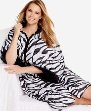 $50 Charter Club Multipurpose 3 In 1 Tiger Print Black Bodywrap Blanket Throw