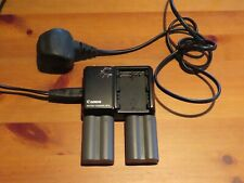 Canon CB-5L Battery Charger and Two Batteries.