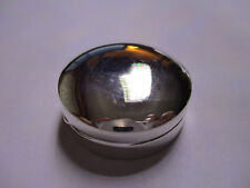 Sterling Silver Pill Box Round Shape 1 1/4 Round solid 925 silver 3/8 high