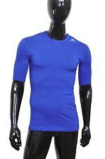 Adidas TechFit ClimaLite Mens SS Compression Base Layer Shirt Small S Blue