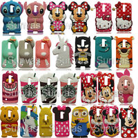 3D Cute Cartoon Soft Silicone Case Back Cover Skin For LG Various Mobile Phones