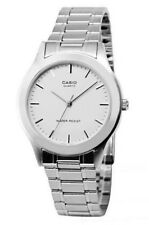 CASIO MAN WATCH STEEL NEW VINTAGE ANALOG DRESS WHITE MTP1128A7 MTP-1128A-7A NEW
