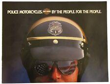 Harley-Davidson Vintage Police Brochure 1982 Collectors FLHT-80 FLH-80 NOS NEW