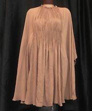 Valentino Dress Beige Silk Oversized Size 38 NWT 2385