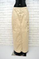 GAS Donna Gonna Lunga Taglia Size 32 46 Cotone Beige Skirt Women's Casual