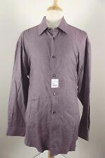 NEW Robert Graham Shirt Sz 19 / 48 Dress NWT Purple Button Down Front 2XL XXL