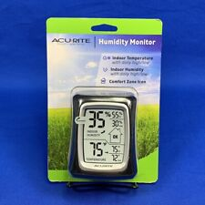 AcuRite 00325 Black Indoor Thermometer w/ Digital Hygrometer Humidity Gauge *NEW