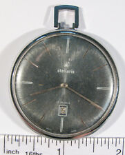 Stellaris Tradition Pocket Watch 17 Jewels - Non-Running Parts - Vintage a