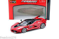 FERRARI RACING FXX-K #10 RED 1/24 DIECAST MODEL CAR BY BBURAGO 26301