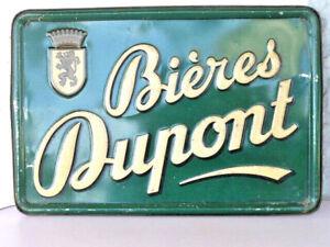 Ancienne plaque tole Publicitaire non émaillée Bières DUPONT Rare !!!