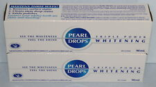 Pearl Drops Triple Power Whitening Toothpaste Two 90ml Tubes = 180ml Total