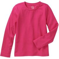 Faded Glory Girls' Long Sleeve Hot Pink Crew Neck T-Shirt Size 4-5