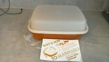TUPPERWARE Season Serve Large Marinade Container- Red #1294 1295