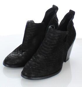 C45  $145 Women's Sz 8.5 M Jeffrey Campbell Rosalee Suede Booties In Black