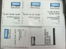 1989 Yamaha Stern Drives V6 4.3/V8 5.0/V8 5.7 Engine/Outdrive Service Manual Set