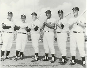 "MICKEY MANTLE etc. New York Yankees  B & W Large Reprint 11"" x 14"""